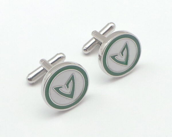 green arrow cufflink