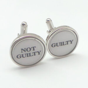guilty not guilty cufflink