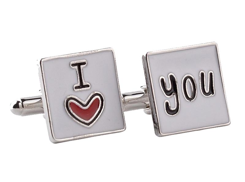 i love u cufflinks