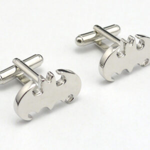 batman cufflinks silver