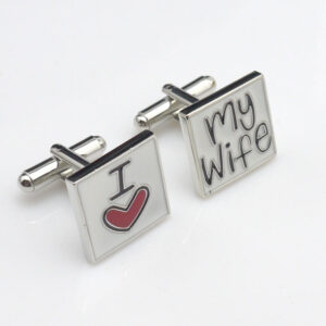 I love my wife cufflinks