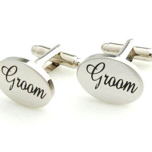 groom cufflinks silver