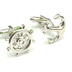 helm and hook cufflinks