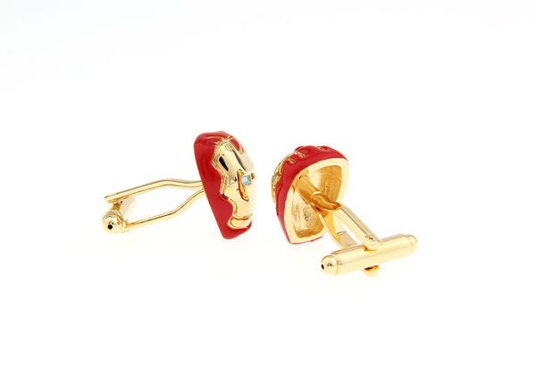 iron man cufflink red 2