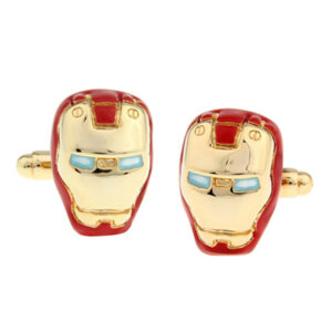 iron man cufflinks red