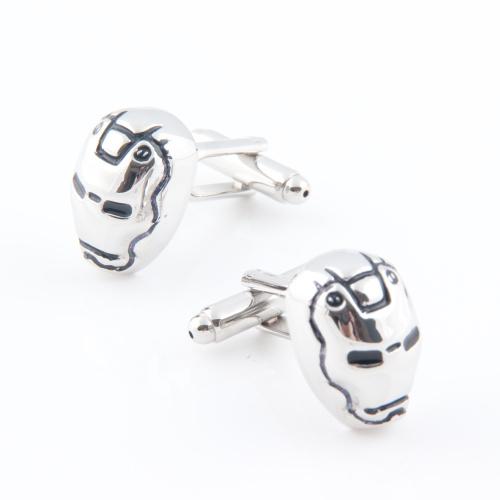 iron man cufflink silver 2