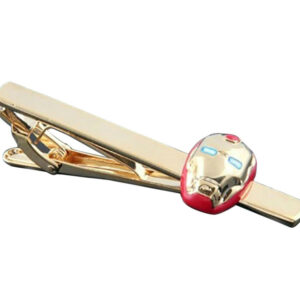 iron man tie clip red