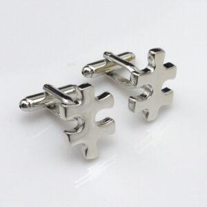 jigsaw puzzle cufflinks