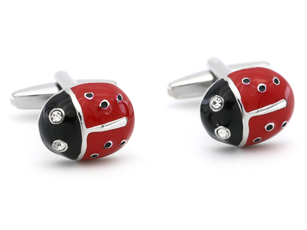 ladybird cufflinks