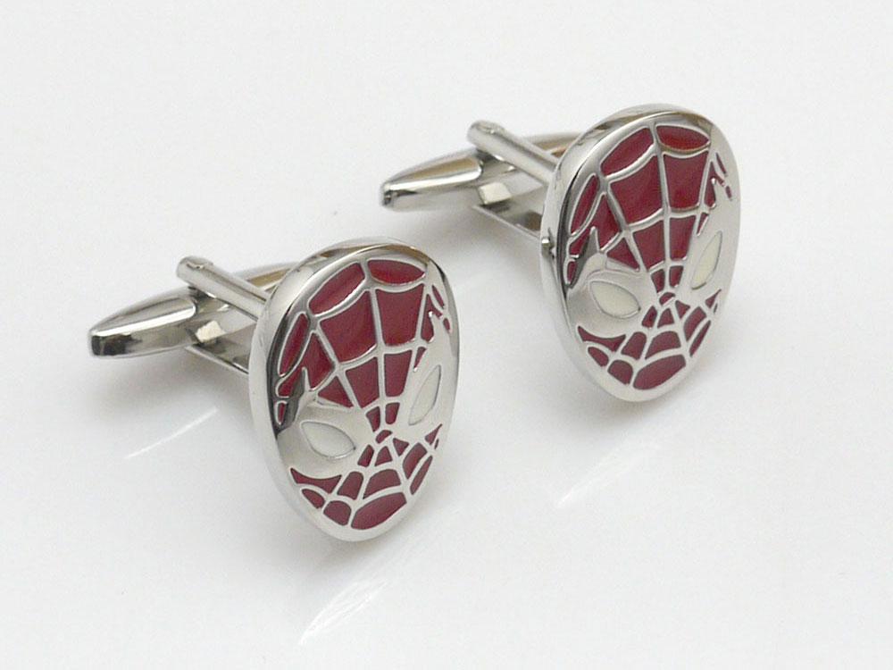 spiderman cufflinks red