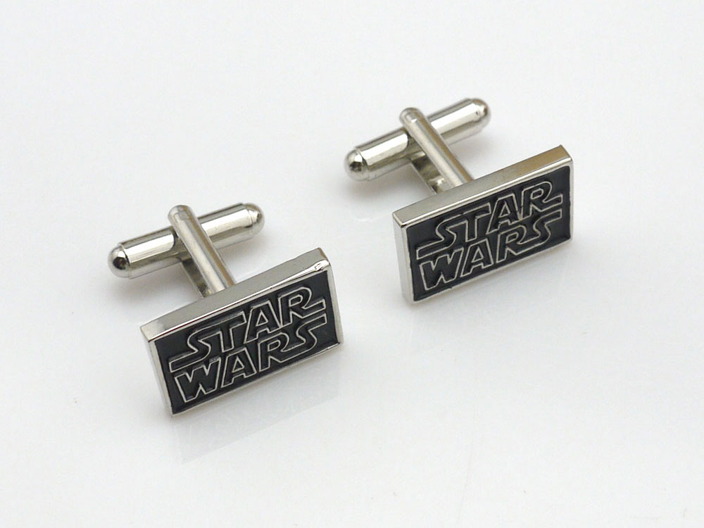 star war logo cufflinks