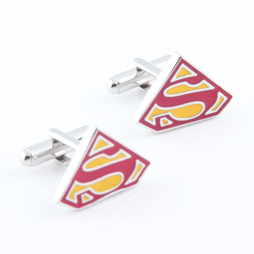 superman cufflinks red color