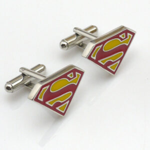 superman cufflinks red
