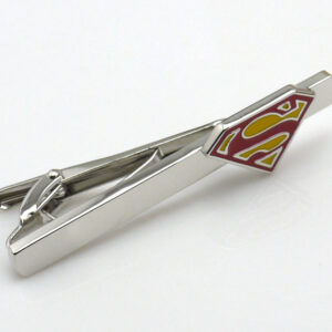superman tie clip red