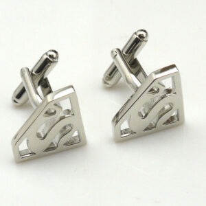superman cufflinks silver
