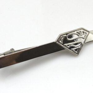 superman tie clip silver