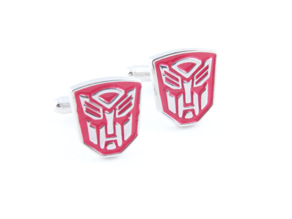 transformer optimus prime cufflink red